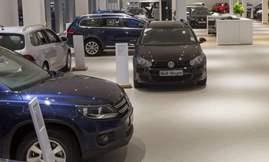 Volkswagen-showroom