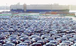 Gothenburg port car exports