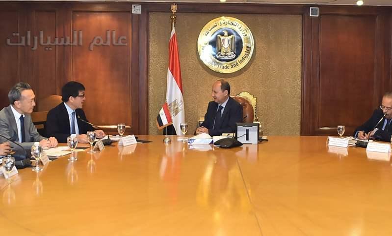 لقاء المهندس عمرو نصار وزير التجارة والصناعة مع وفد شركة تويوتا برئاسة السيد توشيميتسو إيامي