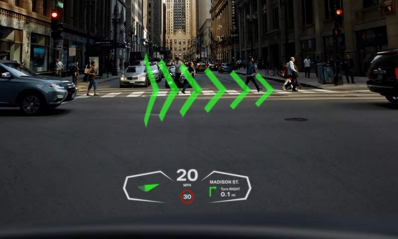 جنرال موتورز تستثمر في تقنية عرض الصور المجسمة على الزجاج الأمامي