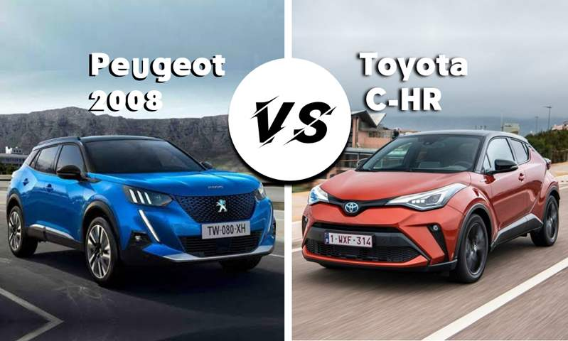 مقارنة بين مواصفات وأسعار  تويوتا C-HR و بيجو 2008 GT Line