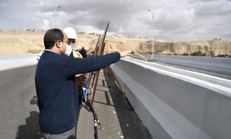 السيسي يتفقد عدد من مشروعات تطوير منطقة مصر القديمة والسيدة عائشة وموحور الحضارات
