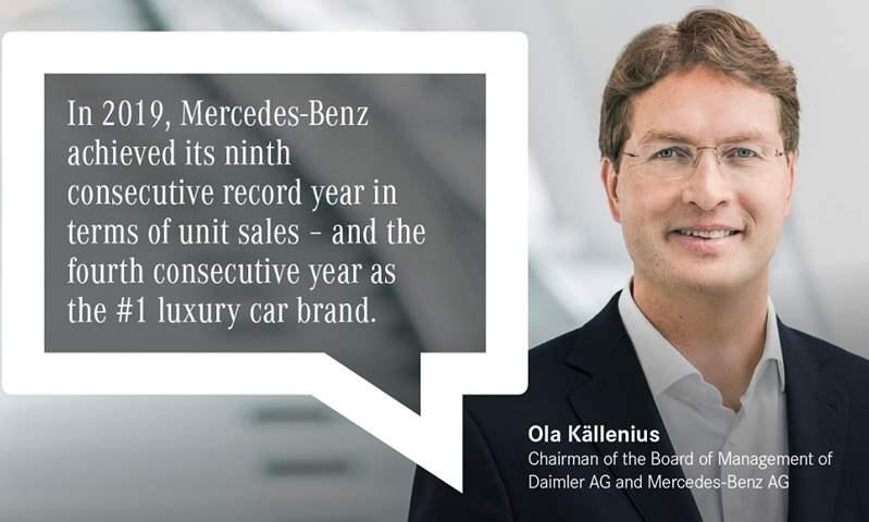 مرسيدس بنز تسلم أكثر 2 مليون سيارة .. وتحقق أعلى مبيعات فى تاريخها