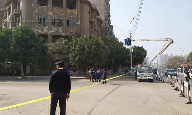 انهيار عقار يتسبب في إغلاق شارع بيروت بمصر الجديدة