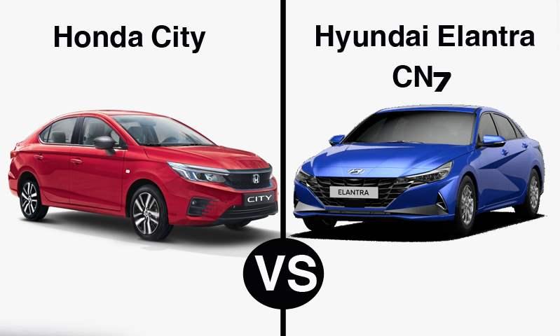مقارنة بين سيارتي هيونداي إلنترا CN7 وهوندا سيتي موديلات 2021 في مصر