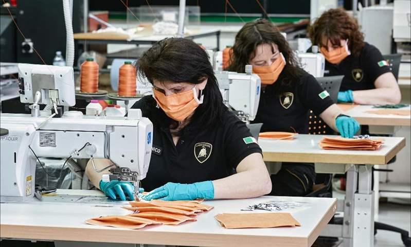 لامبورجيني تبدأ إنتاج الأقنعة الطبية ودروع الوجه للحد من انتشار كورونا