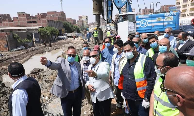 وزير النقل يتفقد أعمال تنفيذ تطوير  الطريق الدائري حول القاهرة الكبرى