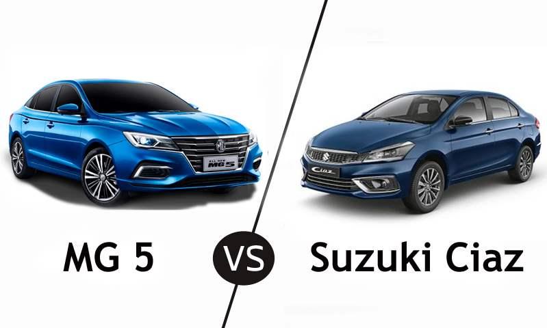 بعد زيادة أسعارهما . . مقارنة بين سيارتي إم جي 5 وسوزوكي سياز في السوق المصري