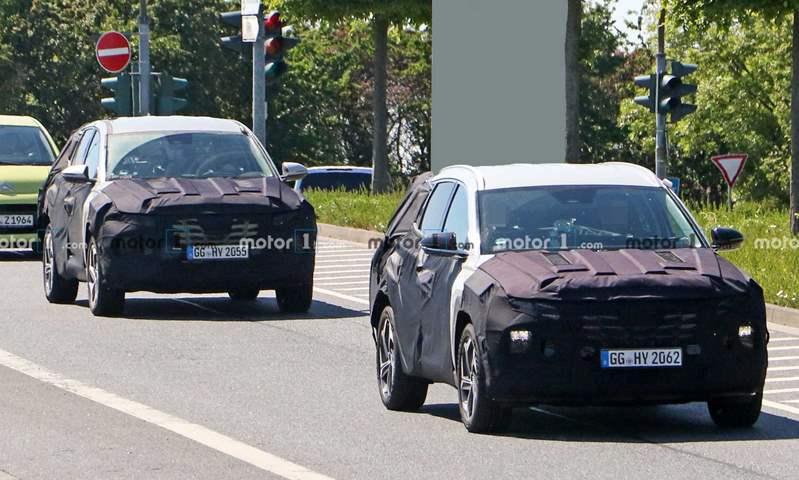 صور تجسسية لـ هيونداي توسان 2021 خلال  اختبارها على الطرق الألمانية