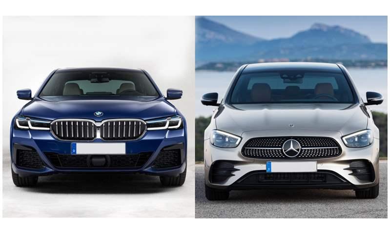 مقارنة بين بي إم دبليو الفئة الخامسة ومرسيدس E-class موديلات 2021 .. أيهما تفضل؟