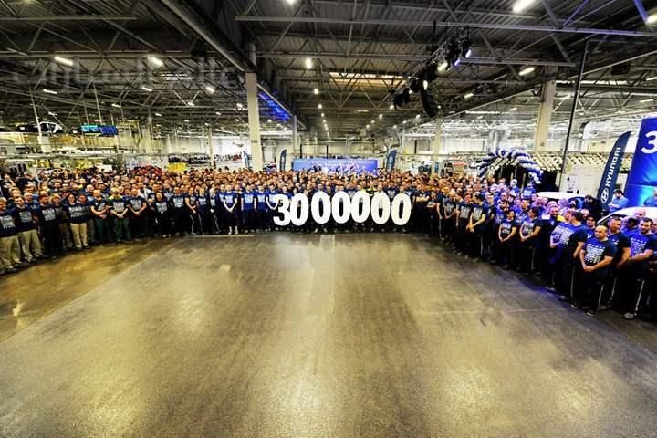 مصنع هيونداي يحتفل بإنتاج 3 ملايين سيارة