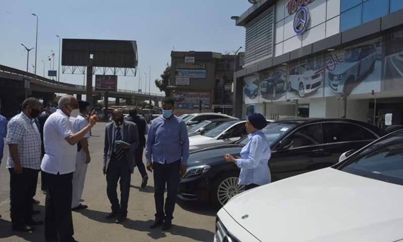محافظ الجيزة يمنح معارض السيارات بالمهندسين 48 ساعة لرفع السيارات من الشارع