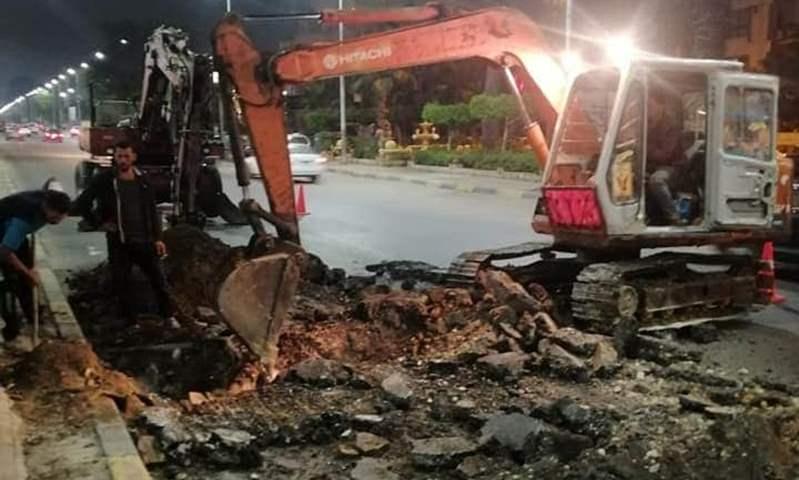 محافظة الجيزة تتابع أعمال الغلق الجزئي لـ شارع الهرم