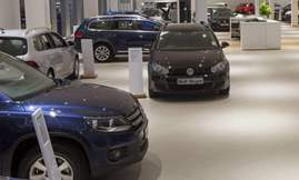Volkswagen-showroom
