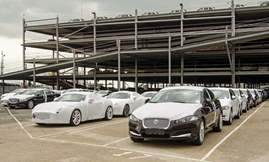 Cars awaiting export