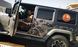 """وصول سيارة شريف خيرى لـ """"العربية للتصنيع """" لتصليحها"""