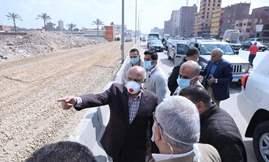 وزير النقل في جولة تفقدية لمتابعة تطوير وصيانة الطريق الدائري