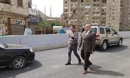 نائب المنطقة الغربية بالقاهرة يتابع تطوير محور روكسي- رمسيس
