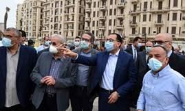 رئيس الوزراء يُتابع من الموقع الموقف النهائي لأعمال تطوير ميدان التحرير