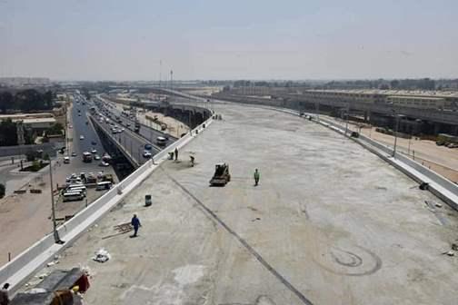 98,2% نسبة تنفيذ أعمال تطوير تقاطع الطريق الدائرى  مع الأوتوستراد